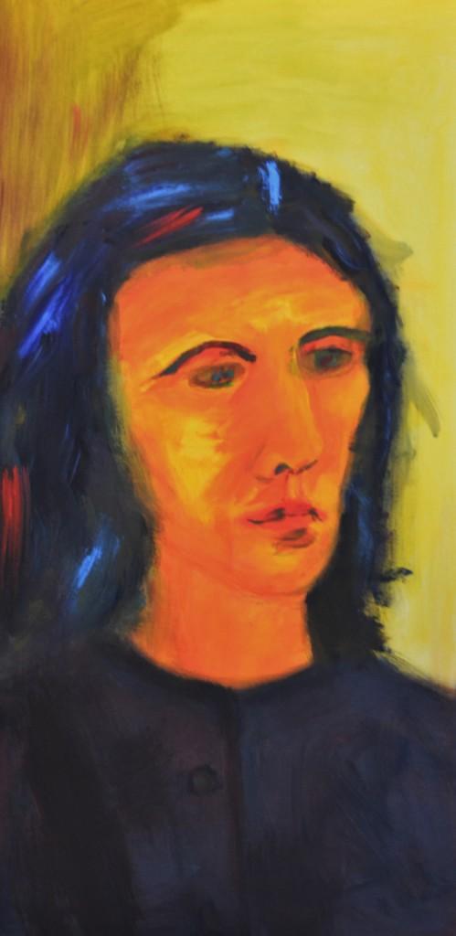 Margarita, 2012, von stebü Painting 50cm x 100cm