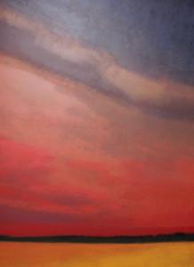 """""""23.10.2013 / Ein weites Feld """", stebü, 2013, Painting, Acryl + Leinen, 80cm x 100cm"""