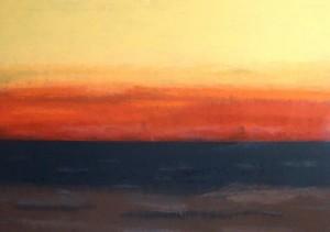 """""""Das Meer"""", 19.02.2014, stebü, Painting, Acryl + Leinen, 70cm x 100cm"""