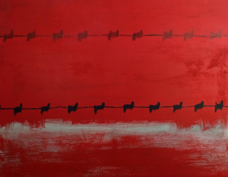 """Political correctness"", stebü, 06.04.2015, Painting, Acryl + Leinen, 100cm x 80cm"