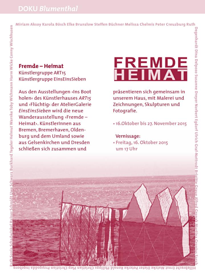 """Gemeinschaftsausstellung """"FREMDE - HEIMAT"""""""