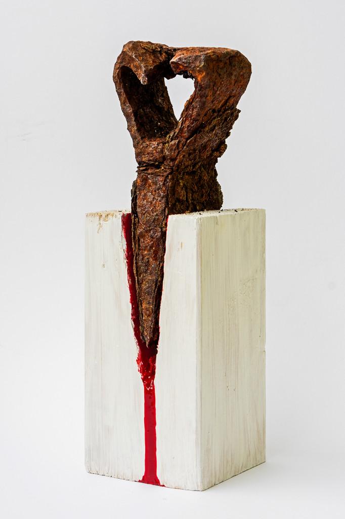 """""""Die Spaltung"""", stebü, 5.4.2016, Fotografie der Installation"""