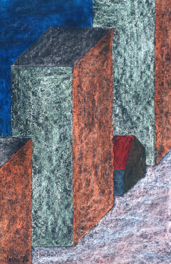 """""""Trügerische Sicherheit"""", stebü, 31.03.2016, Papier+Tafelkreide, 59,0cm x 38,0cm, frei nach dem Roman """"1984"""" von George Orwell"""