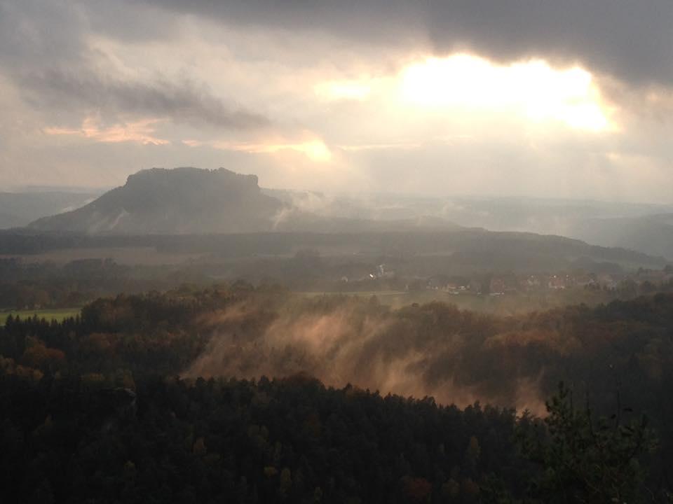 Blick auf den Lilienstein / Sächsische Schweiz, stebü, 21.10.2016