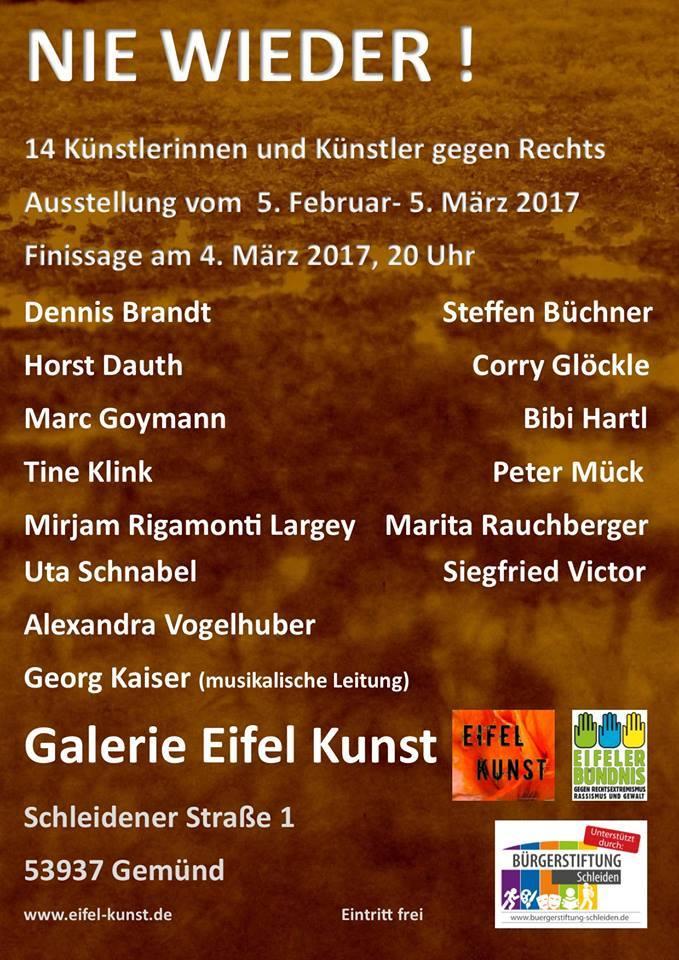 Gemeinschaftsausstellung 05.02. - 04.03. 2017 Galerie Eifel Kunst