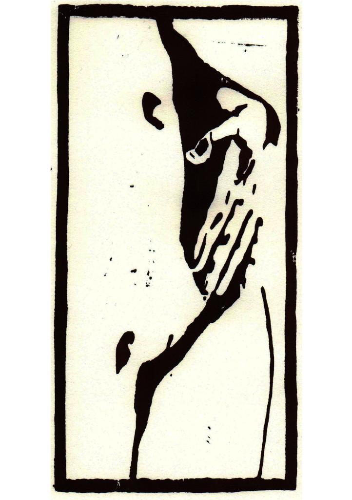 """Eva"", stebü, 21.05.2017, Linolschnitt, 11cm x 21cm"