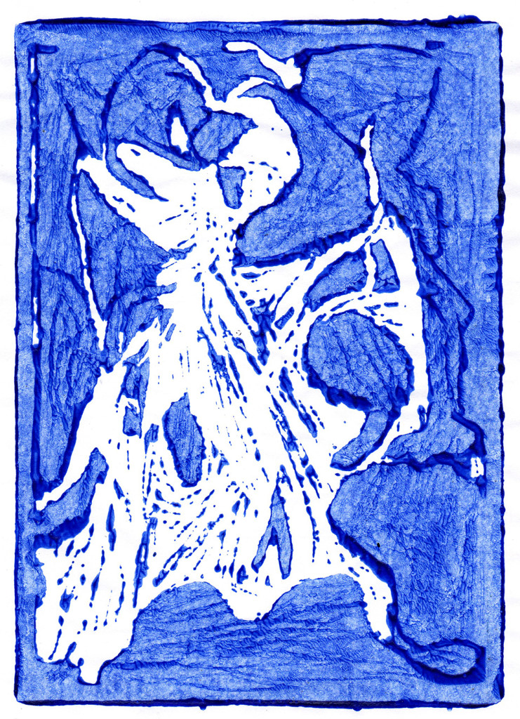 """Der Nyks"", Linolschnitt, 21,0cm x 15,0 cm,stebü, 28.03.2018"