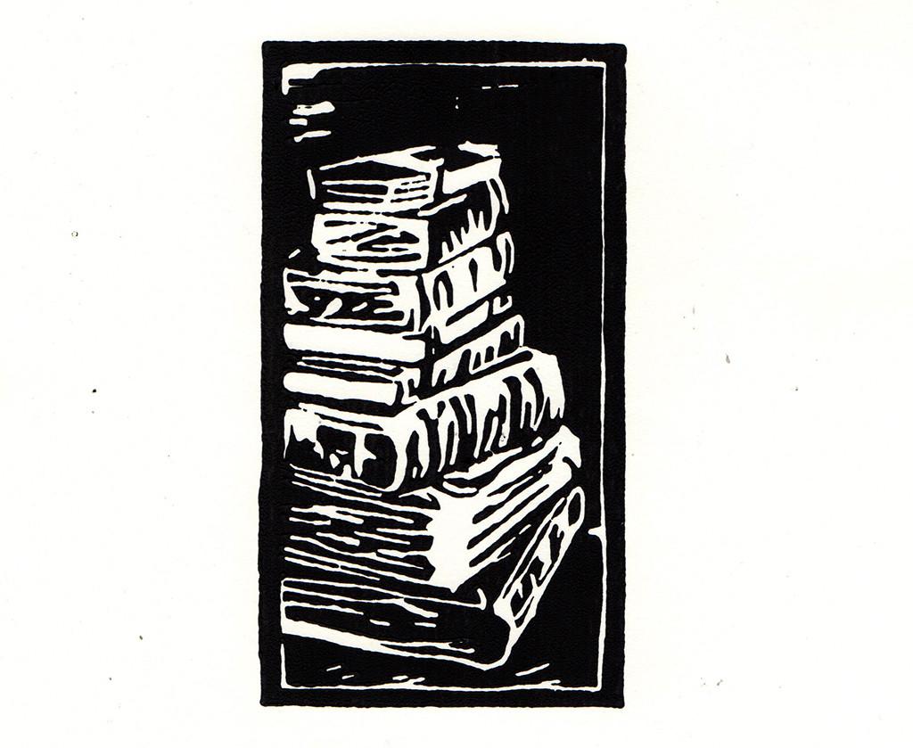 """Mein Kapital"", stebü, 08.03.2018, Linolschnitt, 12cm x 7cm"