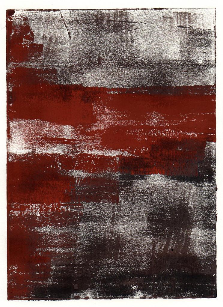 """""""Der Walkürenritt"""", nach Richard Wagner, Monotypie, 18,00 cm x 13,00 cm, stebü, 05.04.2018"""