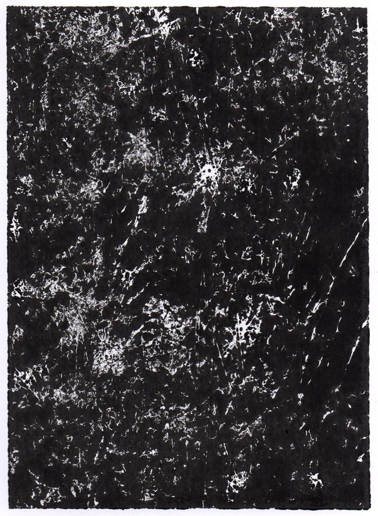 """Dunkelheit II"", Monotypie, 18,00 cm x 13,00 cm, stebü, 31.03.2018"