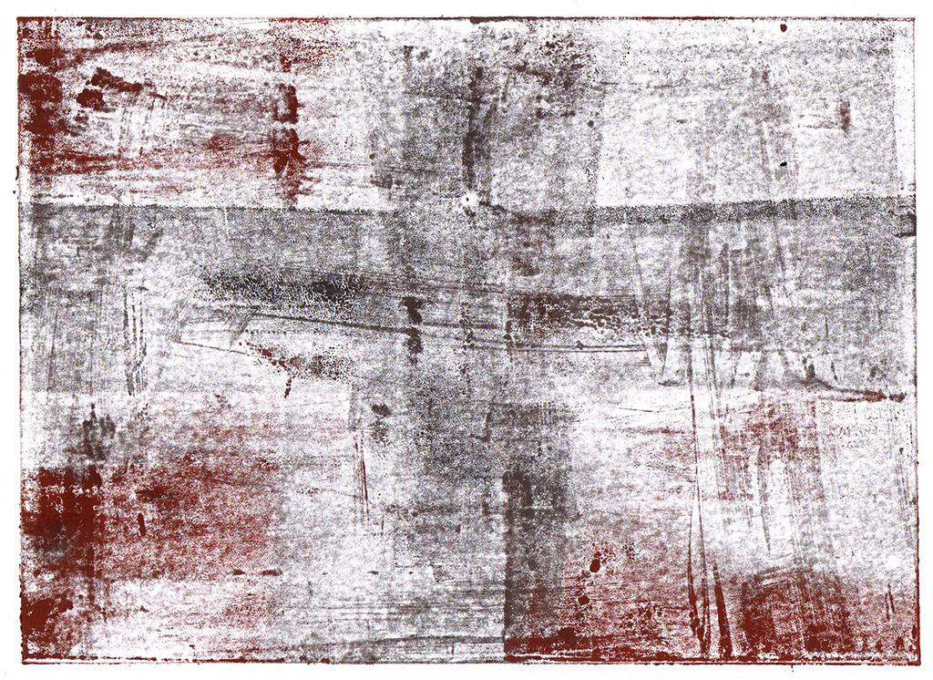 """""""Götterdämmerung"""", nach Richard Wagner, Monotypie, 18,00 cm x 13,00 cm, stebü, 09.04.2018"""