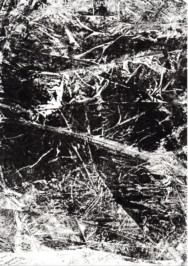 """""""Im Wald"""", Monotypie, 21,00 cm x 15,00 cm, stebü, 14.04.2018"""