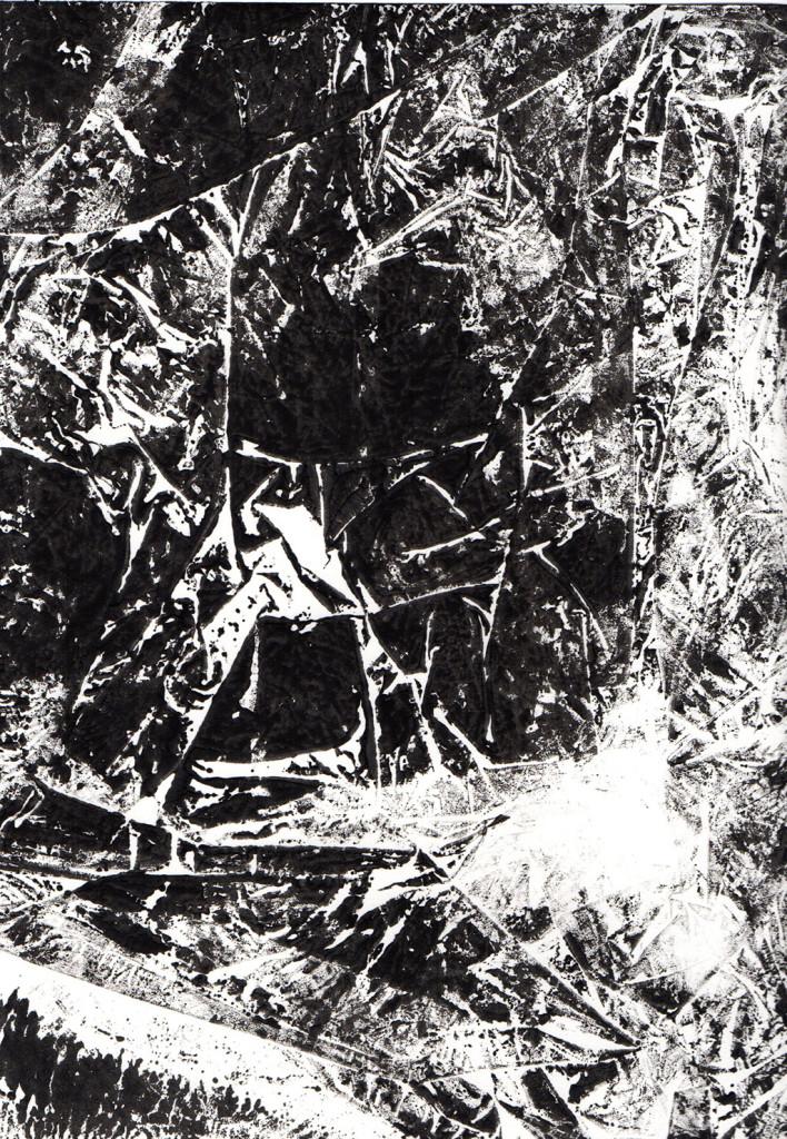 """Windbruch"", Monotypie, 21,00 cm x 15,00 cm, stebü, 15.04.2018"